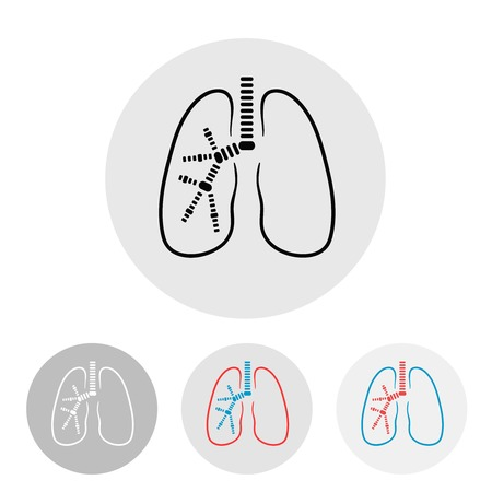 Human lungs symbol illustration, clinic label Vector