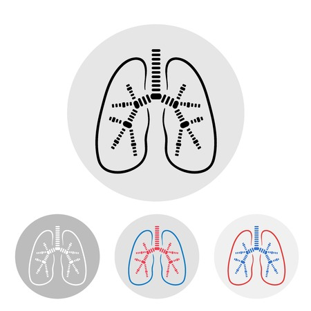 Human lungs symbol illustration Vector