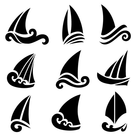 the stylized ship, boat on a light background Vector