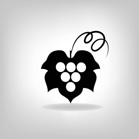 silhouette of grapes  Vector illustration  Vector