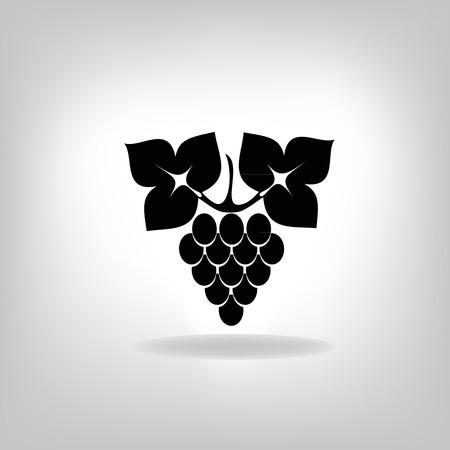 ブドウのベクトル図のシルエット