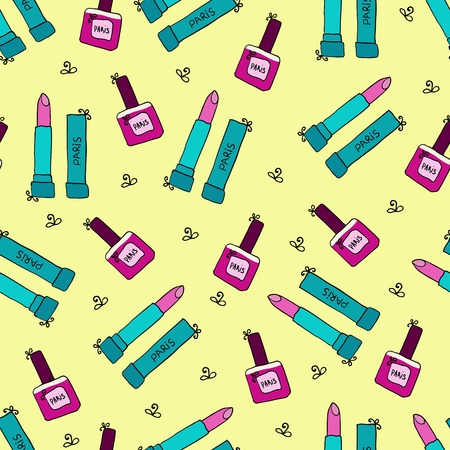 Lipstick Seamless Pattern Vector