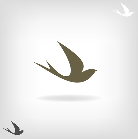 golondrina: Estilizada golondrina silueta sobre un fondo claro