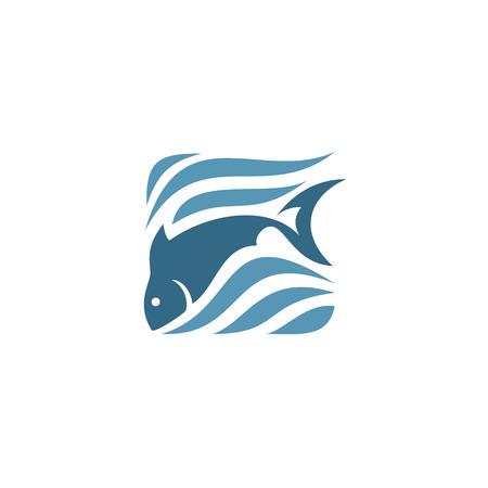 Stylized silhouette of fish,  sea - vector illustration Illustration