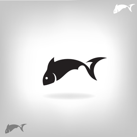 swimming silhouette: Stylized silhouette of fish light background - vector illustration Illustration
