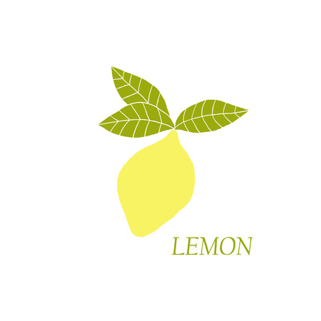 unpeeled: Hand drawn illustrations of yellow lemon on a white background