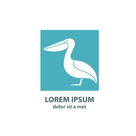 pelican: Stylized silhouette of a Pelican.