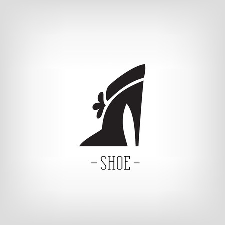 shoe store: Stylized women shoes on a white background. shoe store.  design for the company.