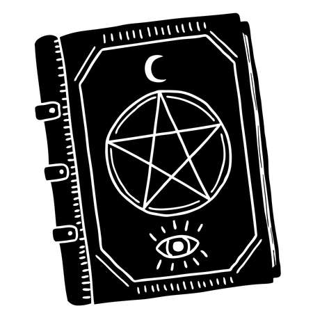 A book of divination, spells, and predictions. The Black Book of Divination.