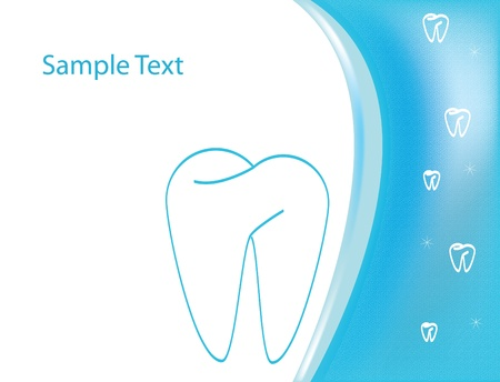 Dental medical form or logo Vector