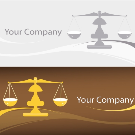 criminal justice: Scales logo symbol for your company