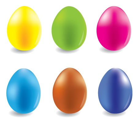 Eggs for selebration easter illustration Vector