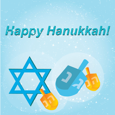 hanukah: Happy Hanukkah greeting card design. Vector illustration