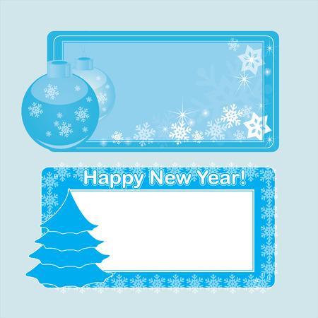 christmas gift: blue christmas gift card