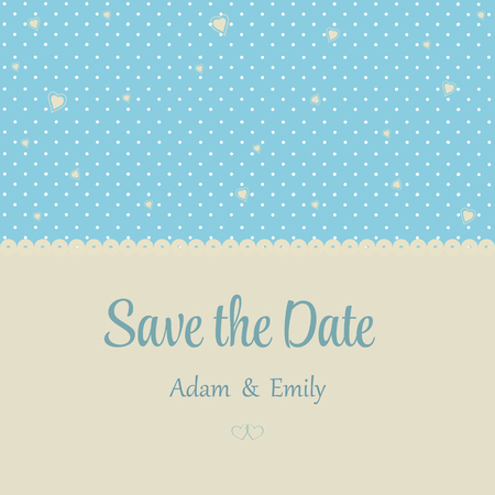 nuptial: wedding invitation card with hearts and decorative background