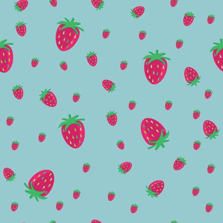 strawberrys: strawberrys with blue light background. Illustration