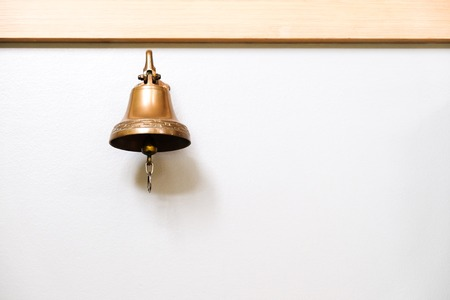 bell: bell on the white wall