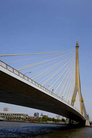 Rama 8 bridge in daylight