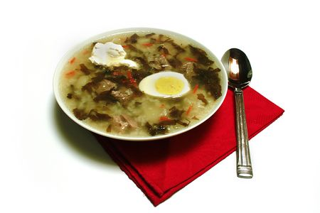 Green borsch — soup on a basis Rumex, a dish of national kitchens of some slavic countries.