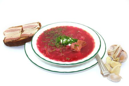 Borscht is a soup that is popular in many Eastern and Central European countries.