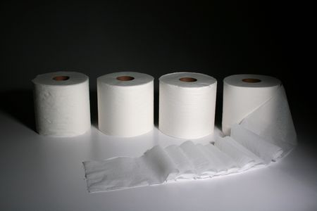 Toilet paper is a soft paper product used to maintain personal hygiene after human defecation or urination.