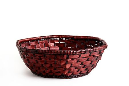weaved: Basket weaved from rods for fruit and vegetables.