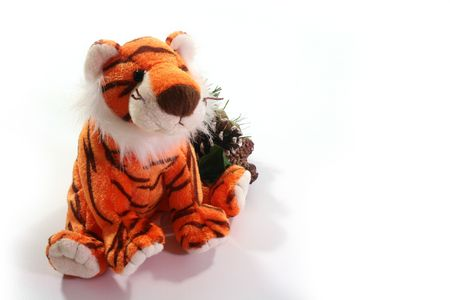 Soft toy a tiger - a symbol of 2010 on east calendar.