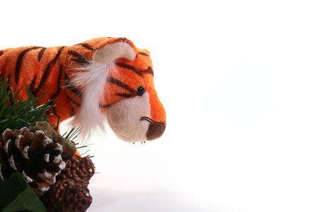 柔らかいおもちゃ虎 - イースト カレンダー 2010 年のシンボル。 写真素材