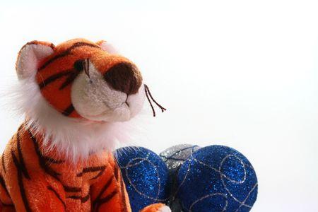 柔らかいおもちゃ虎 - 東のカレンダー上の2010年のシンボル。