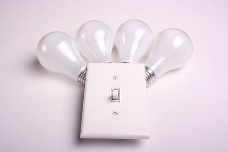 Four matte electric bulbs broadside for use of the house and on manufacture.