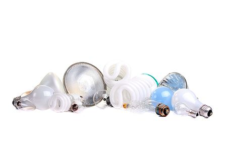 Different bulbs for use of the house and at office: halogen, light bus and economic.