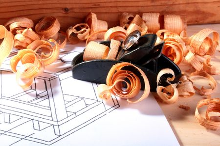 planer: The tool for work with a wood in a workshop - planer.