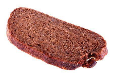 unleavened: Unleavened bread slice consisting of black a flour. Stock Photo