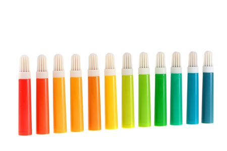 Set of felt-tip pens of different colours for work and children's creativity. Stock Photo - 6395757