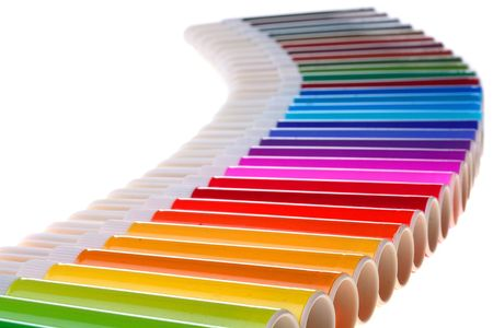 Markers of different colours for work at office and design work. Stock Photo - 6407648