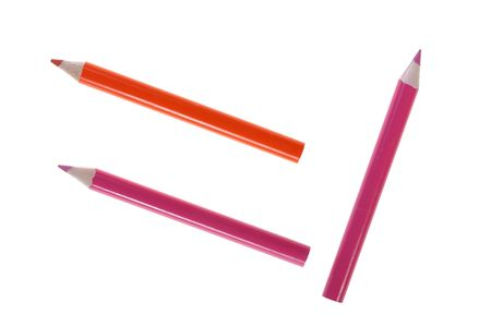 Three pencils for drawing in red scale of colour. Stock Photo - 6430447