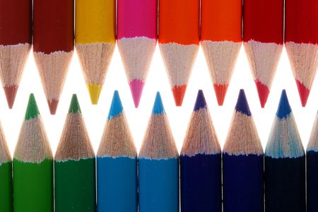 Colour pencils for drawing are located in one plane. Stock Photo - 6463261