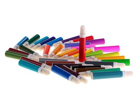 Set of felt-tip pens of different colours for work and children's creativity. Stock Photo - 6463262