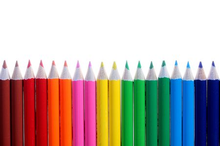 Set of colour pencils on a white backgrou. Stock Photo - 6499341