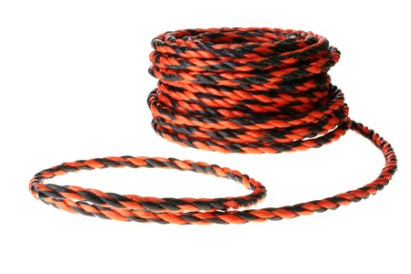 bight: The rope of retinues from plastic fibres, is used in civil work for the insurance of workers working on height and in transportation of cargoes for its fixing.