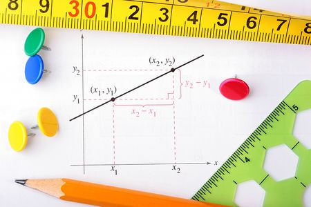 Schedule construction, pencil and measurement subjects.