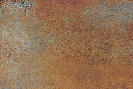 corrosion: Old metal surface covered with a rust.