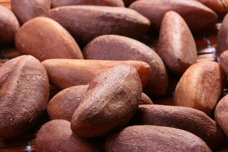 One of versions of nuts - Brazil nut, is used in cookery. Stock fotó