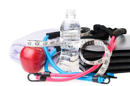 Subjects connected with a healthy way of life, sports, water. photo