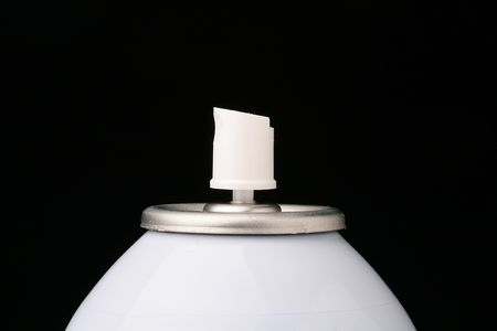 particulates: Aerosol barrel used in the cosmetic, technical industries, and also in house use. Stock Photo