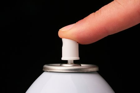 Aerosol barrel used in the cosmetic, technical industries, and also in house use. 版權商用圖片
