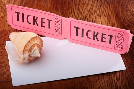 Tickets for a pink cardboard for visiting of show, concerts etc. Reklamní fotografie