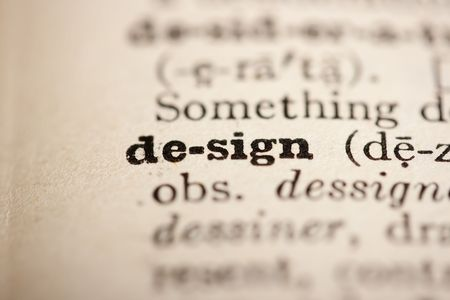 Word design from the old dictionary, a close up. Stock Photo - 8133224