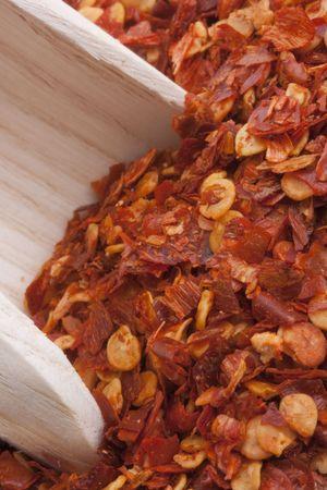 食品に添加するためのスパイス - 粉砕唐辛子。