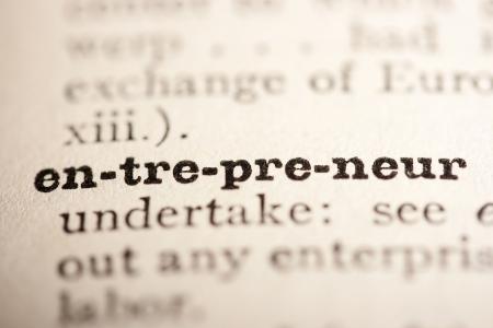 diccionarios: La palabra empresario del diccionario antiguo, un cierre arriba.  Foto de archivo